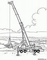 Crane Coloring Construction Printable Truck Vehicle Vehicles Drawing Ball Wrecking Tower Trucks Cartoon Cranes Colouring Drag Caricatures Draw Drawings Azcoloring sketch template