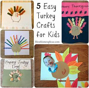 5 Easy Turkey Crafts for Kids - Bless This Mess