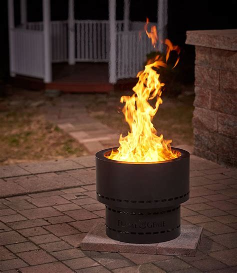 Can be utilized as a smokeless grill, or for bbq, or just as an. Flame Genie - Wood Pellet Smokeless Fire Pit