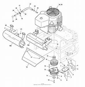 Simplicity Zt2148t  48 U0026quot  Mower Deck Parts Diagram For Engine Group