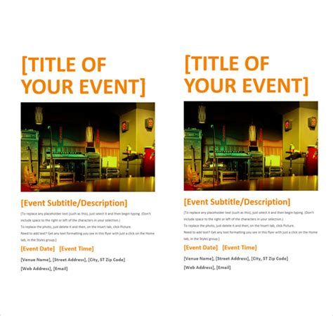 Microsoft Word Flyer Templates by 13 Microsoft Flyer Templates To For Free Sle
