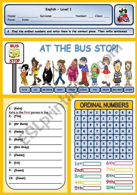 bus stop ordinal numbers  images ordinal