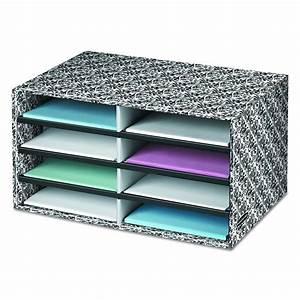 Box decorative literature sorter letter organizer drawer for Letter organizer box