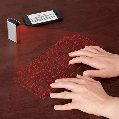 smartphone  tablet virtual keyboard hammacher