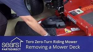 How To Remove The Mower Deck On A Toro Zero