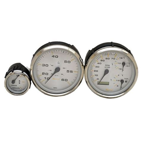 Boat Gauges Set Uk by Faria Silver Custom 3 Bright Clear Led Illuminated