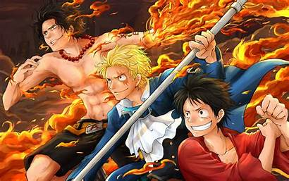 Piece Luffy Anime Wallpapers Desktop Background Ace