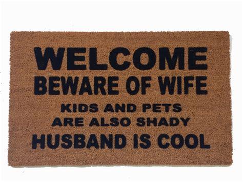 witty doormats welcome beware of rude doormat