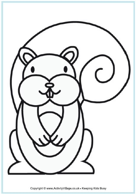 squirrel coloring page clipart panda  clipart images