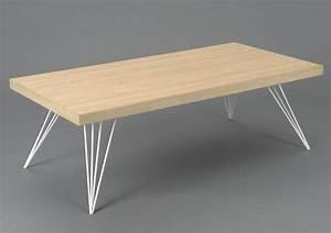 Table Bois Pied Blanc : table bois pieds metal maison design ~ Teatrodelosmanantiales.com Idées de Décoration