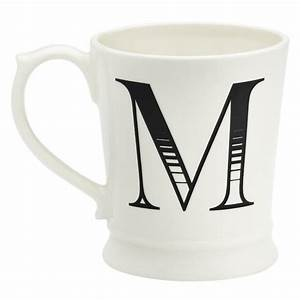 M alphabet letter mug qtique for Alphabet letter mug