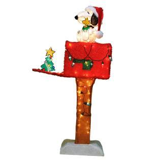 48in animated holographic mailbox 48 quot 3d snoopy on house let snoopy light up your lawn with kmart