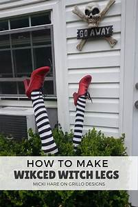 How To Make Wicked Witch Legs • Grillo Designs