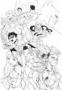 justice league coloring pages - young justice league picture coloring page netart