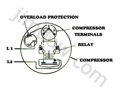 Wiring Diagram Of Refrigerator Compressor by Refrigeration Refrigeration Wiring Diagrams Compressor