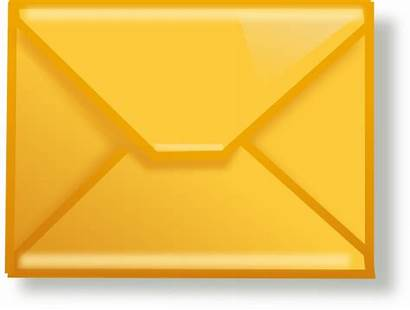 Mail Clipart Email Clip Letter Yellow Vector