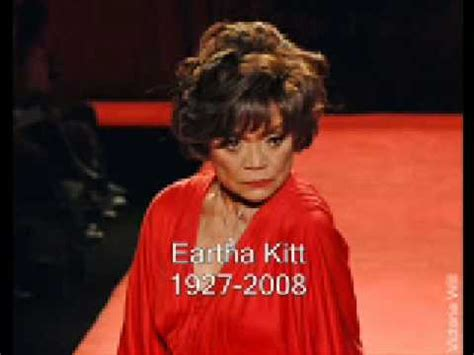 Eartha Kitt Dies 19272008 Rip Youtube