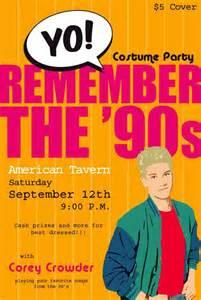 90s Theme Party Invitations