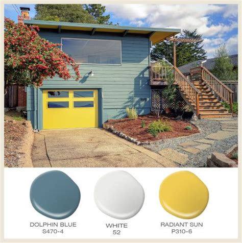 color of the month sunny yellow a split level ranch goes for the bold with a bright yellow