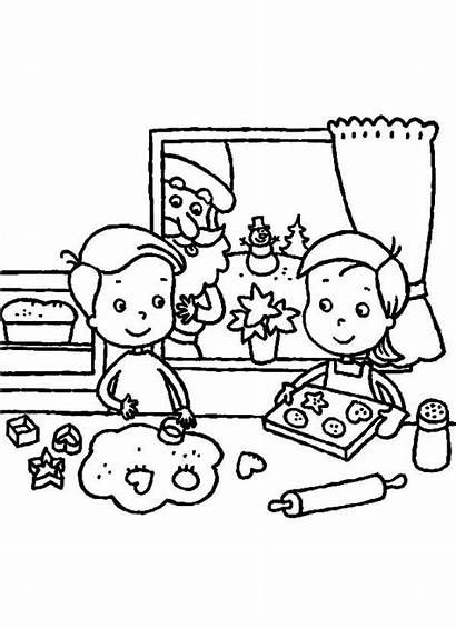 Coloring Christmas Cookies Pages Baking Celebration