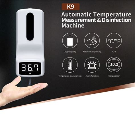 palm hand thermometer scanner  disinfectant