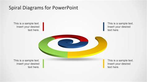 colorful spiral diagrams  powerpoint slidemodel