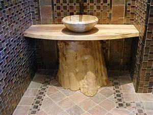 Wood Slab Bathroom Vanity - Reclaimed Wood Project