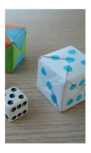 3d origami - SONOBE CUBE - how to make instructions - YouTube