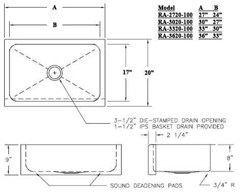 Kitchen Sink Dimensions Standard  Standard Size Kitchen