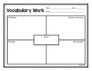 frayer model  vocabulary work  seedsteaching tpt