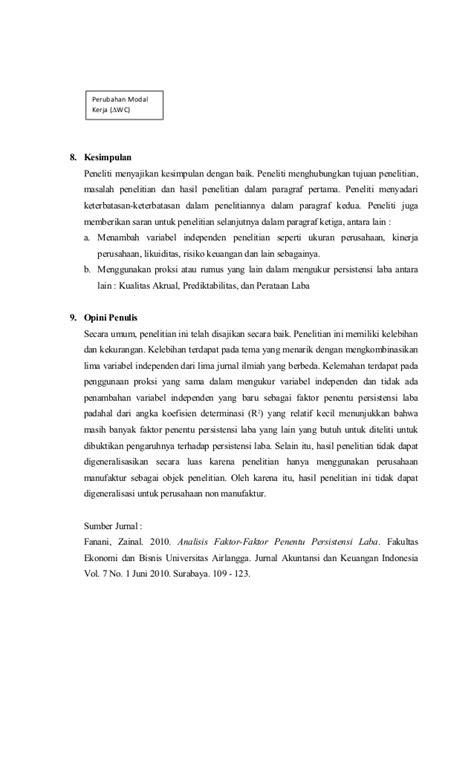 Kritik jurnal ilmiah 1