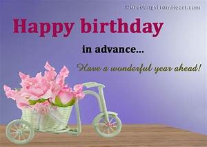 Advance Birthday Wishes - Wishes, Greetings, Pictures ...