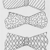 Bow Coloring Printable Adult Arches Ties Bows Bowties sketch template