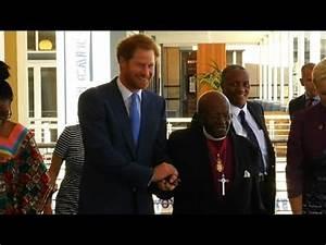 Britain's Prince Harry visits Archbishop Desmond Tutu ...