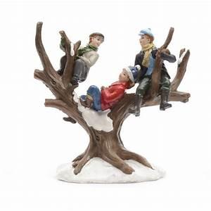 Personnage Pour Village De Noel : figurine enfant sur un arbre village de noel eminza ~ Melissatoandfro.com Idées de Décoration