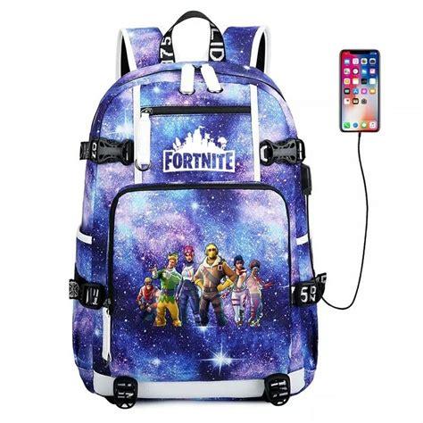 fortnite backpack school bag bookbag  men boys kids