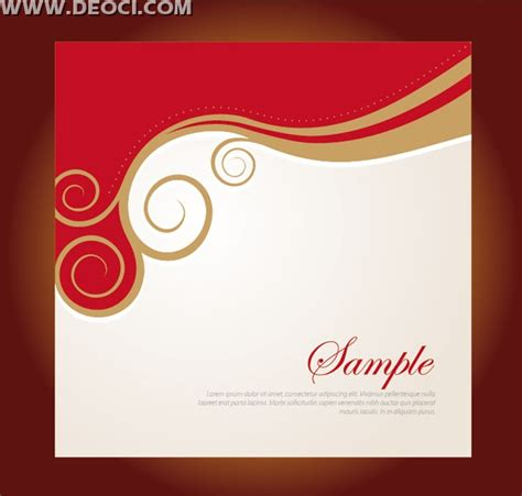 Vector Red Floral Background Design Company Album Cover
