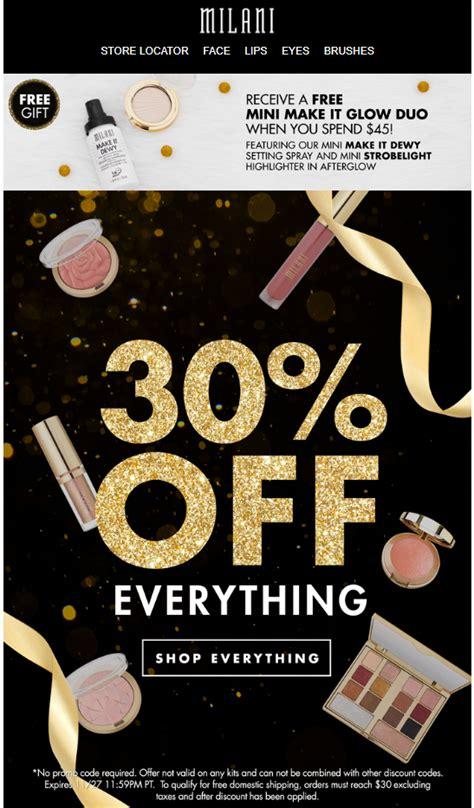 milani cosmetics black friday beauty deals sales