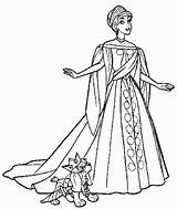 Coloring Anastasia Princess Gown Ball Disney Colouring Drawing Gowns Printable Ariel Dog Clipart Sheets Popular Adult Coloringhome Insertion Codes sketch template