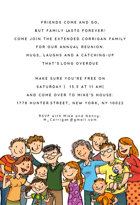family lasts  family reunion invitation template