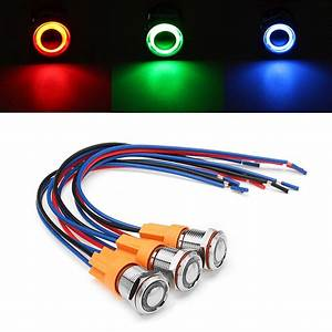 12v Off Led Push Button Switch