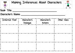 Character Inference Graphic Organizer