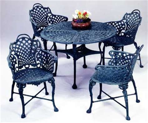basketweave cast aluminum furniture