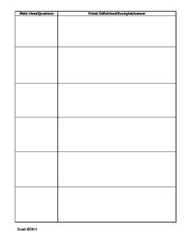 Guest Speaker Notes Graphic Organizer for CCSS by K Zutali | TpT