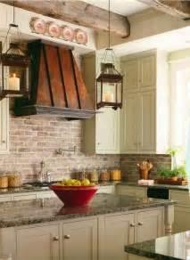 Faux Brick Kitchen Backsplash Brick Backsplashes Rustic And Of Charm Copper Vent And