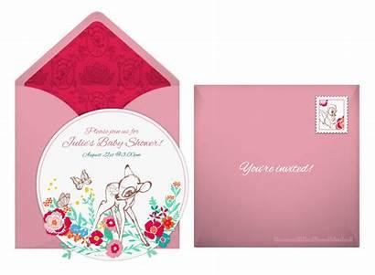 Bambi Shower Invitation Disney Plan Sweet Flower