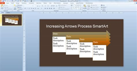 Microsoft Office Smartart Templates by Simple Process Timeline Template For Powerpoint 2013