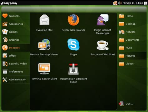 easy peasy is a lightweight linux distro optimized for