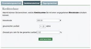 Monatsrate Berechnen : baufinanzierungsrechner hausfinanzierung mit dem baufi ~ Themetempest.com Abrechnung