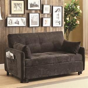 Coaster Futons 551075 Dark Brown Sofa Bed Del Sol